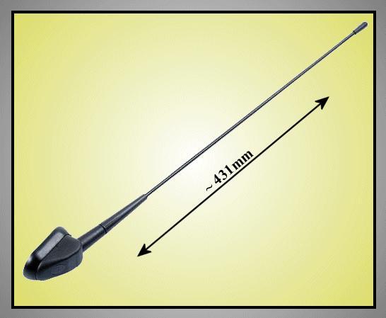 AM/FM autó antenna 431mm CAR-ANT.ZA23.01