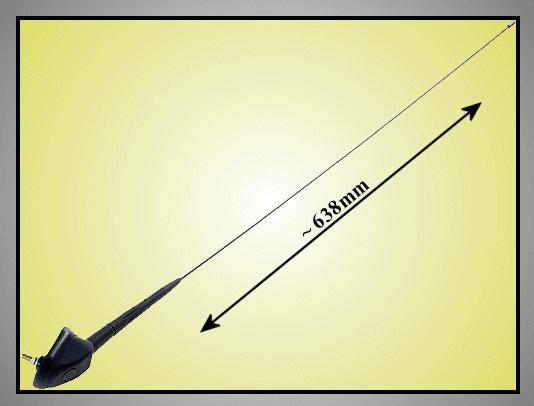 AM/FM antenna 638mm (kültéri) CAR-ANT.ZA45.02