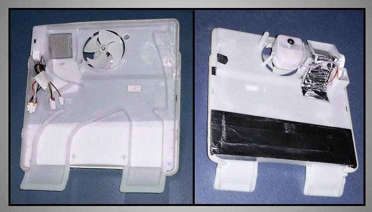 Hűtő ventilátoros hátfal egység W8-DA9703797B -