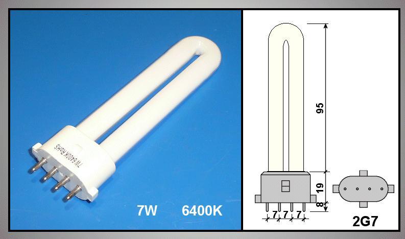 230V 7W / 6400K , JC-125, 2G7foglalat LAMP 0161