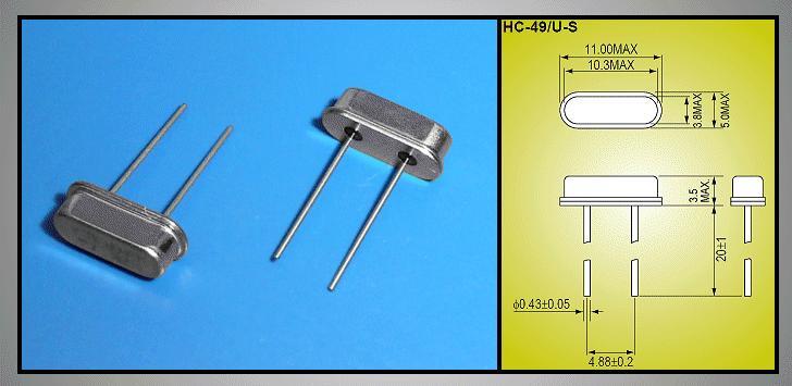 QUARTZ 40.000.000 MHz HC49/U4S 40.000 HC49/S