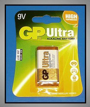9V 6LF22 GP Alkáli Ultra tartós elem (bliszter) BAT 6LF22 GP.U
