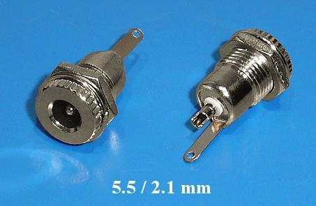 DC aljzat 2.1x5.5mm (csavaros) fém ház CSAT-P008/2.1M
