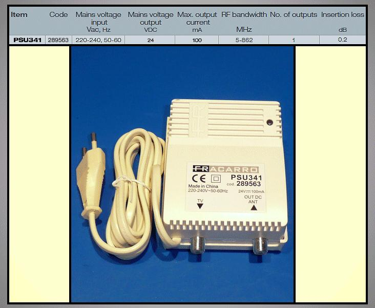 Antenna tápegység 24V 1 kimenettel ANT PWR PSU341