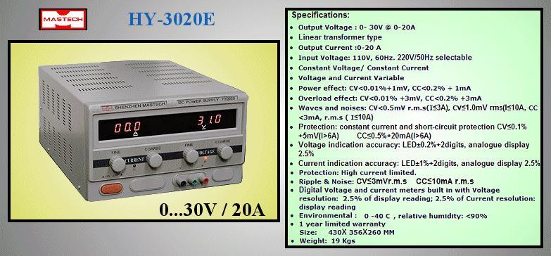 230VAC -> labor tápegység 0...30Vdc / 0...20A P.SUP.AS1020M