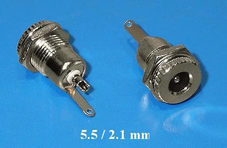 DC aljzat 2.1x5.5mm (csavaros) fém ház CSAT-P008/2.1MD