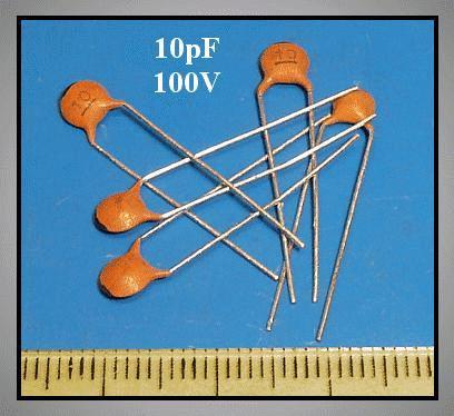 CERAMIC CAPAC. 10pF 100VDC 5% RM-5 CC 10P 100V
