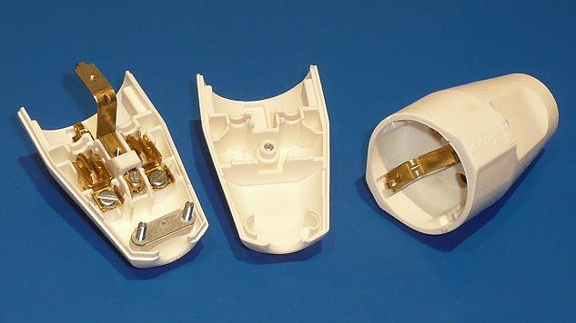2P+F földelt lengő aljzat fehér CSAT-P028/W1