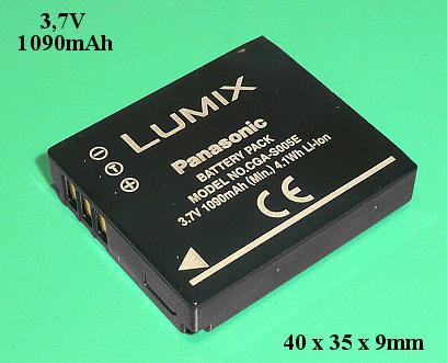 Li-Ion 3.7V 1090mAh akkumulátor CGA-S005E/1C ACCU FOT-008