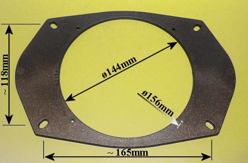 Hangszóró adapter pár, 165mm, 6