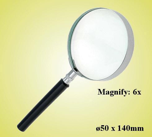 50mm átmérőjü kézi nagyító ( 6x ) LUP-26