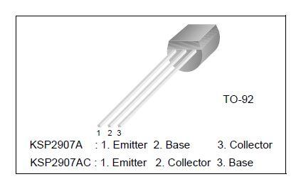 Tranzisztor PNP 25V 0.2A 0.625W 43/155nS 2N4126 2N4126 -