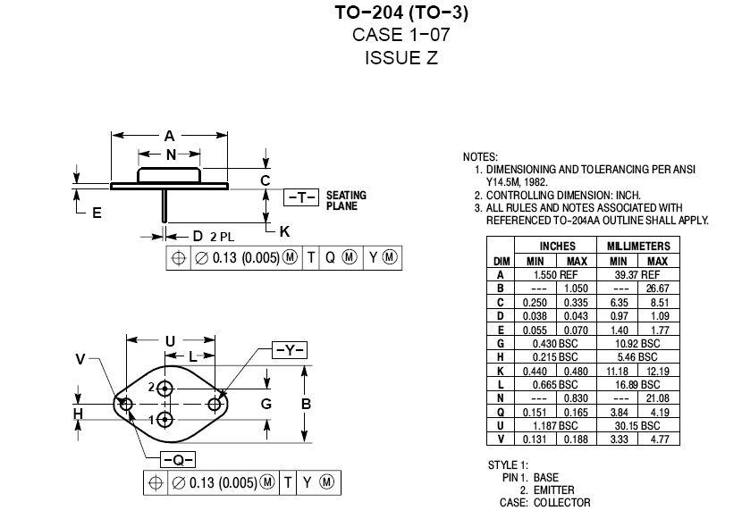 SI-N 80V 25A/50Ap 200W 4MHz NF/SL 2N5886 -