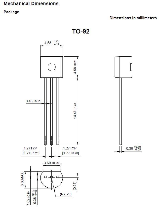 Tranzisztor NPN 350V 0.5A 0.625W >40MHz 2N6517 2N6517 -