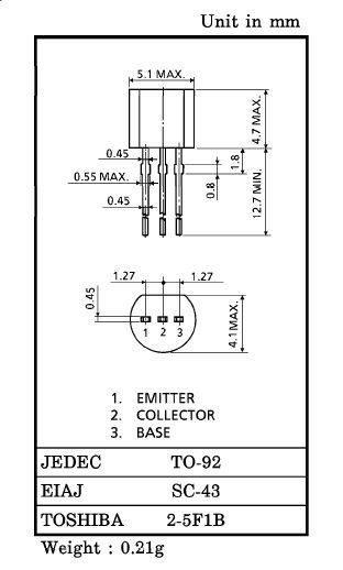 SI-P 50V 0.15A 0.4W >80MHz UNI 2SA1015GR -
