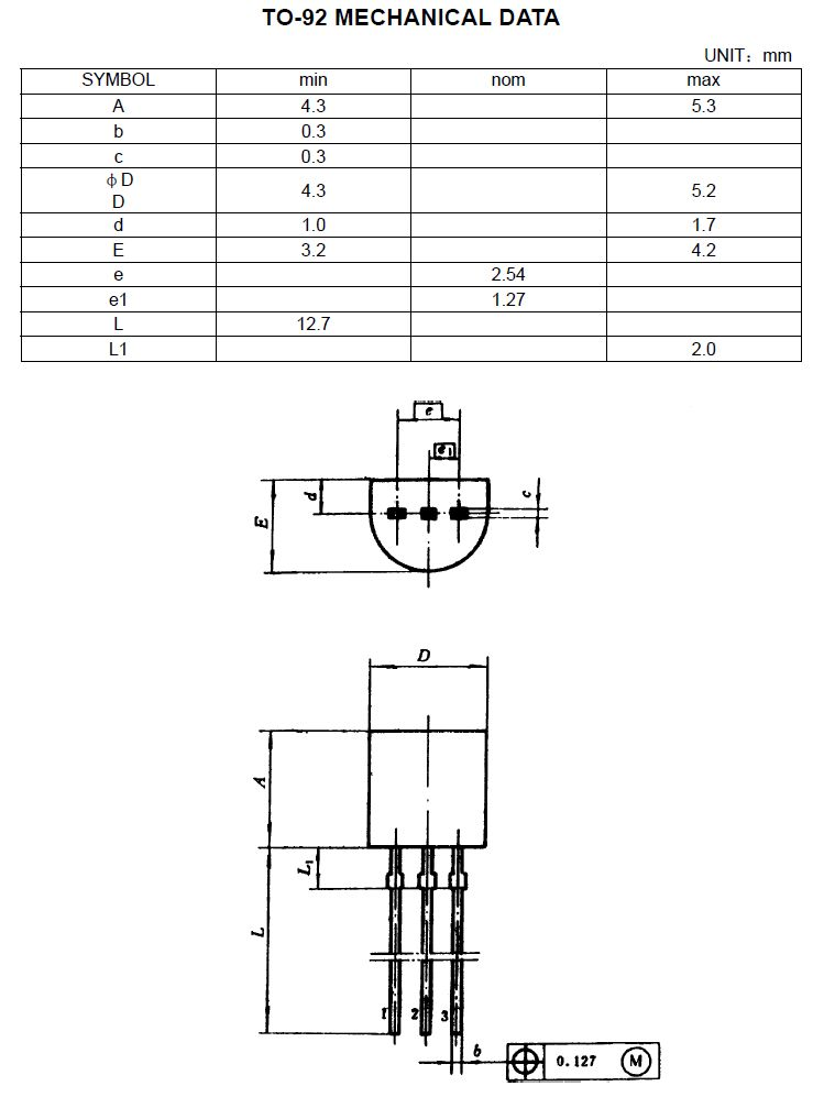 Tranzisztor PNP 300V 0.1A 0.4W 70MHz VID 2SA1091 2SA1091 -