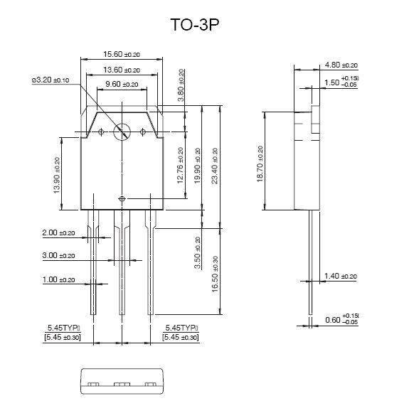 Tranzisztor PNP 140V 10A 100W 30MHz HI-FI 2SA1265 2SA1265 -
