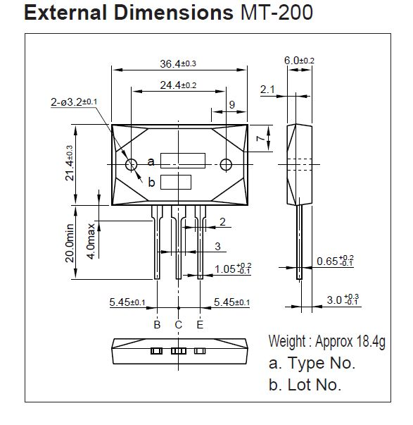 SI-P 230V 17A 200W 35MHz NF/SL 2SA1295-SKN -