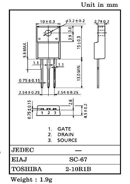 Tranzisztor PNP 60V 5A 20W 60MHz DC/DC 2SA1307 2SA1307 -