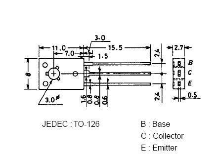 SI-P 300V 0.1A 7W 150MHz VID-L 2SA1381 -
