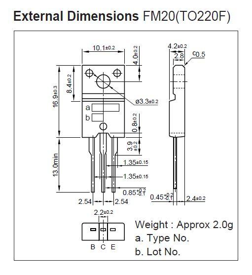 Tranzisztor PNP 180V 1A 15W 200MHz HF/NF 2SA1535A 2SA1535A -