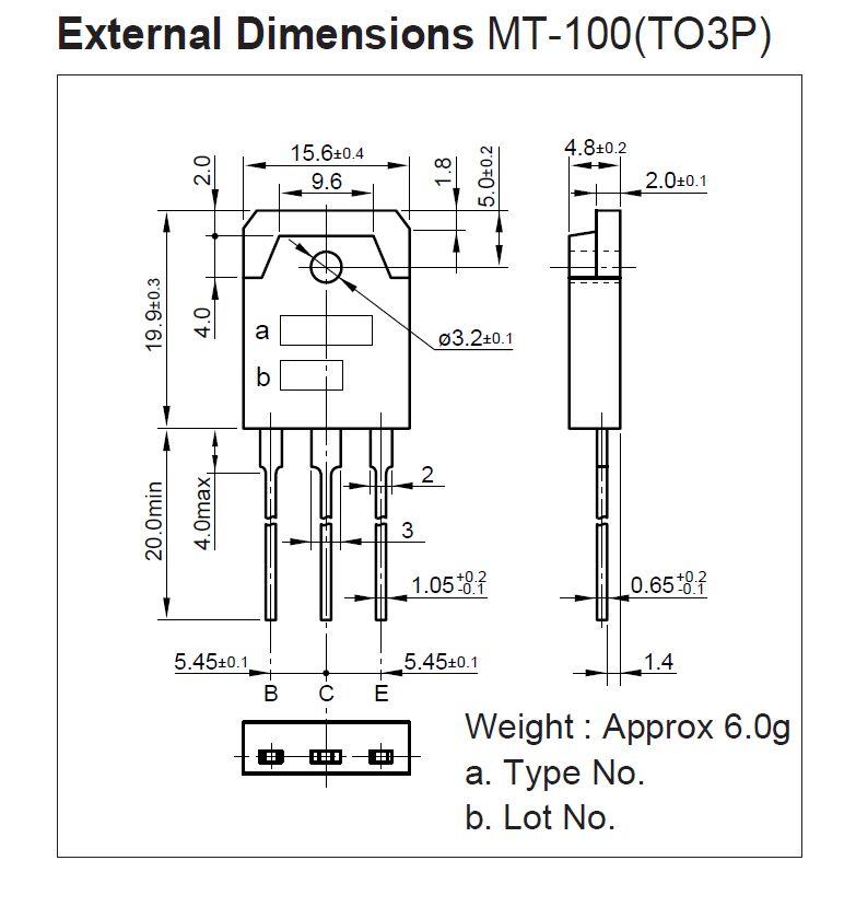 Tranzisztor PNP 80/80V 6A 60W 20MHz NF-L 2SA1693 2SA1693 -