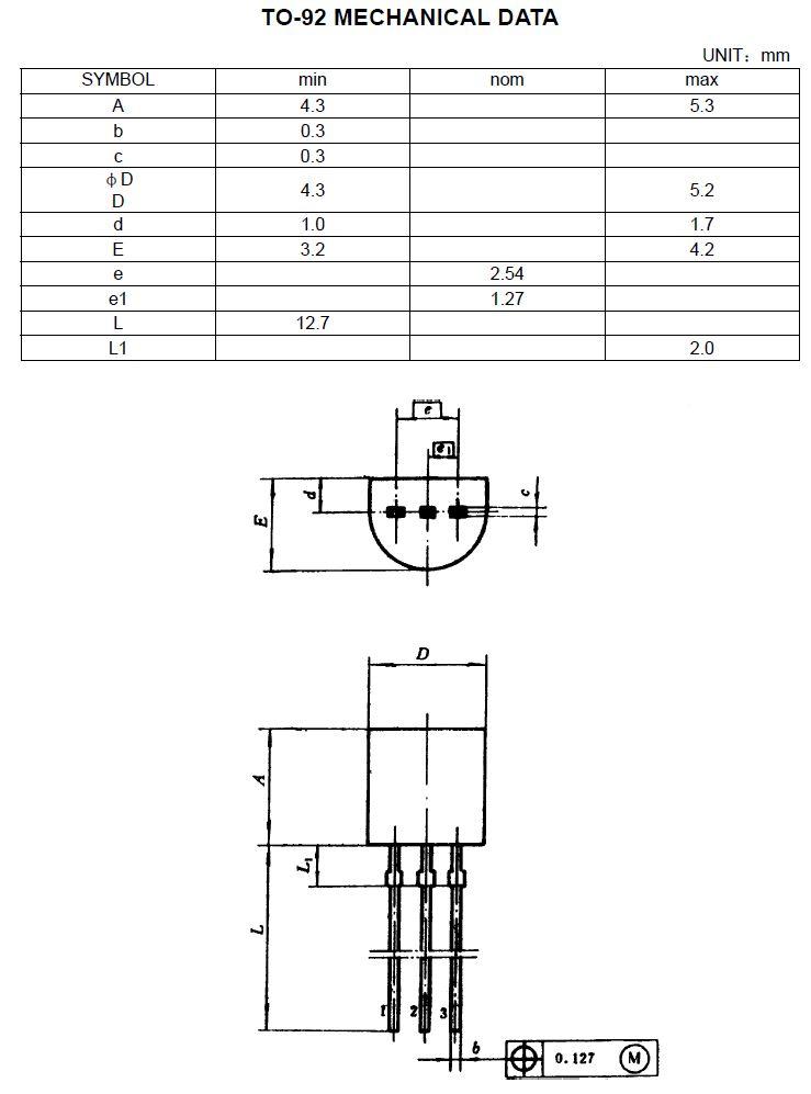 Tranzisztor PNP 120V 0.05A 0.3W 120MHzVID 2SA872A 2SA872A -