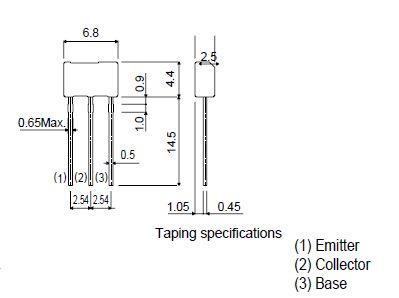 Tranzisztor PNP 40V/32V 1A 1W 150MHz 2SB1237 2SB1237 -