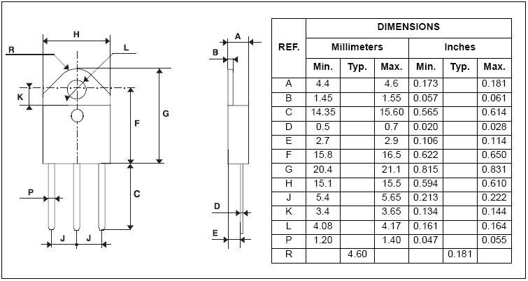 Tranzisztor PNP Darlington 130V 6A 50W 20MHz 2SB1253 2SB1253 -
