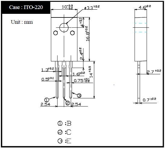 Tranzisztor PNP Darlington+D 100V 4A 25W 50MHz 2SB1282 2SB1282 -