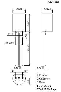 SI-N 75V 1A PQ=0.45W 27MC AM 2SC2086 -