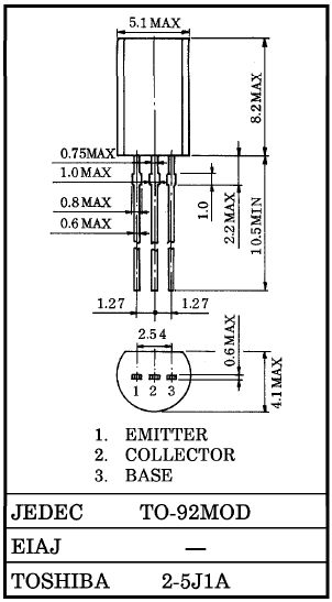 Tranzisztor NPN 120V 0.8A 0.9W 120MHz UNI 2SC2235-Y 2SC2235-Y -