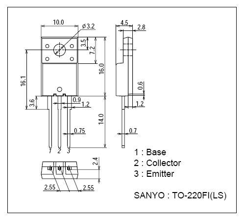 SI-N 1500/700V 10A/25Ap. 35W 0.2uS CTV-HA 2SC6090LS -