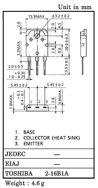 Tranzisztor NPN 120V 8A 80W 12MHz NF/SL 2SD718-TOS 2SD718-TOS -