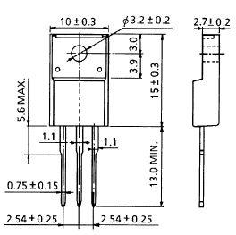 Tranzisztor N-MOSFET+Z 500V 8A 40W 0.85R (4A) 2SK2543 2SK2543 -