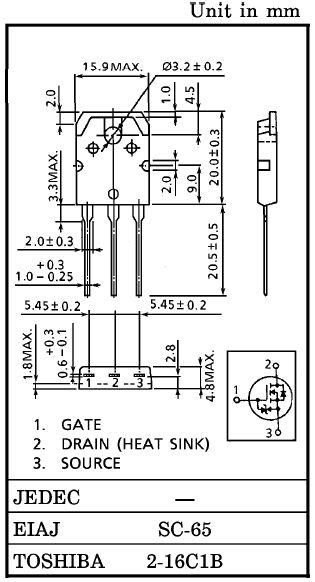 Tranzisztor N-MOSFET+Z 800V 7A/21Ap 150W 1.3R 2SK2746 2SK2746 -