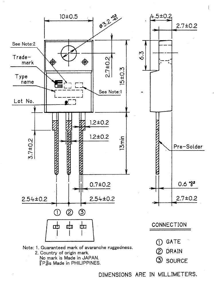 Tranzisztor N-MOSFET 500V 19A IDp:76A 97W 0.29R SW-Reg. 2SK3683-01MR 2SK3683-01MR -