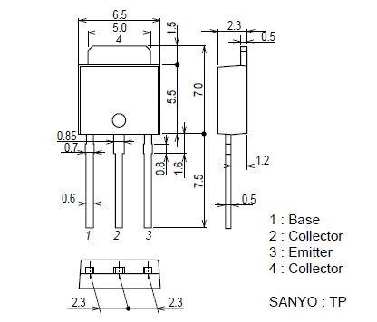 Tranzisztor N-MOSFET 600V 0.7A/2.8Ap. 15W 14R 2SK3850TP 2SK3850TP -