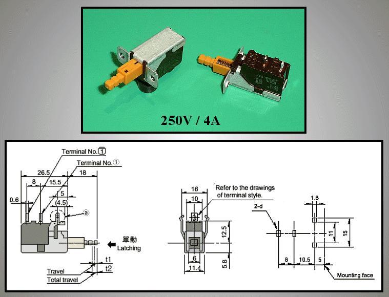 Hálózati főkapcsoló: PANASONIC SDL1P-A SW0429