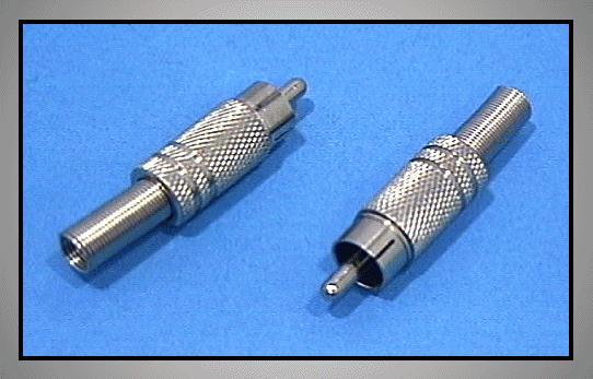 RCA dugó - fém törésgátlos CSAT-C008