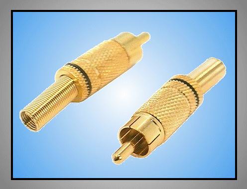 RCA dugó - arany fekete törésg CSAT-C010/B