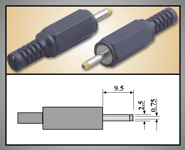 DC dugó L=39mm 2.35x0.7x 9mm+T CSAT-P0024/07T -