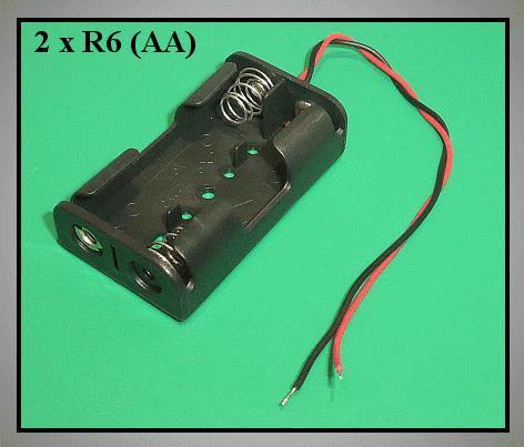 Elemtartó: 2xR6 (2-ceruza) BAT.H.SN-11