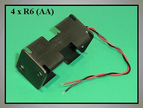 Elemtartó: 4xR6 (4-ceruza) BAT.H.SN-13