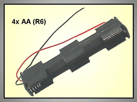 Elemtartó: 4xR6 (4-ceruza) BAT.H.SN-16