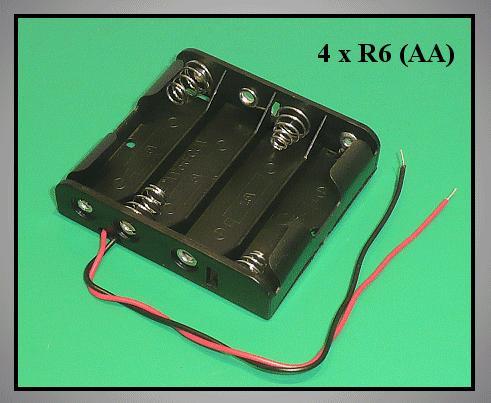 Elemtartó: 4xR6 (4-ceruza) BAT.H.SN-18