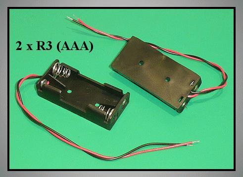 Elemtartó: 2xR3 (2-mini) BAT.H.SN-21