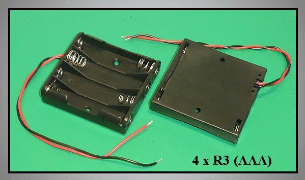 Elemtartó: 4xR3 (4-mini) BAT.H.SN-23