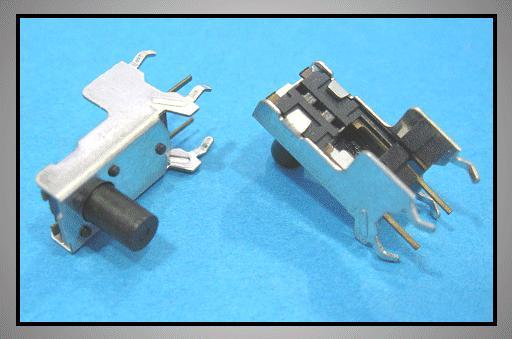 Mikrokapcsoló 6x6mm 6p. 90° gomb:6mm SW100666/060-90F