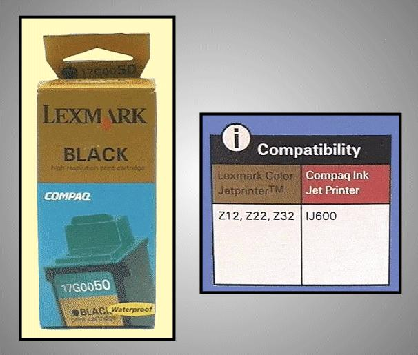 Tintapatron: LEXMARK 17G0050 I000223